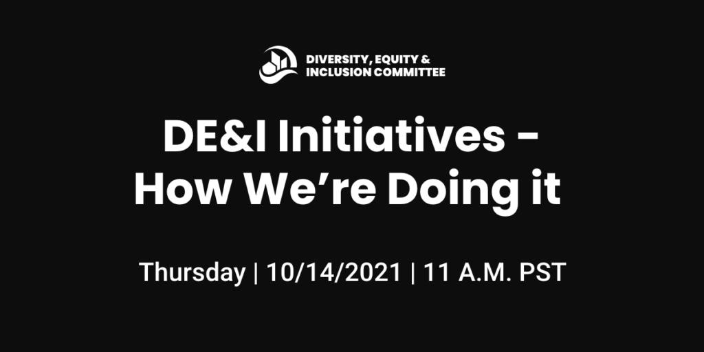 DE&I Initiatives – How We're Doing it